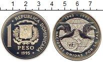 Изображение Монеты Доминиканская республика 1 песо 1995 Серебро Proof-