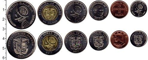 Изображение Наборы монет Панама Набор 2017 года 2017  UNC В наборе 6 монет ном