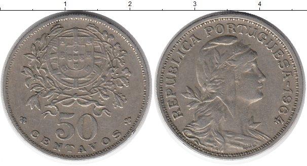 Картинка Монеты Португалия 50 сентаво Медно-никель 1964