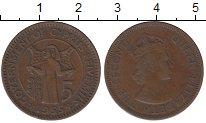 Изображение Монеты Кипр 5 милс 1955 Медь XF