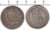 Изображение Монеты Швейцария 2 франка 1945 Серебро XF