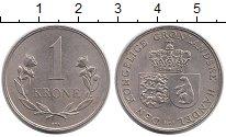 Изображение Монеты Дания Гренландия 1 крона 1964 Медно-никель UNC-
