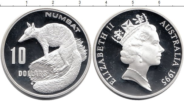 Картинка Монеты Австралия 10 долларов Серебро 1995