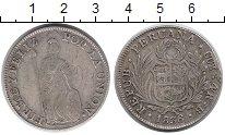 Изображение Монеты Перу 4 реала 1836 Серебро XF