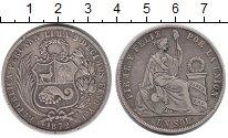 Изображение Монеты Перу 1 соль 1872 Серебро VF