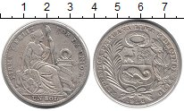 Изображение Монеты Перу 1 соль 1926 Серебро XF