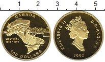 Изображение Монеты Канада 100 долларов 1992 Золото Proof