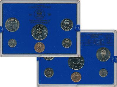 Изображение Подарочные монеты Швеция Набор монет 1979 года 1979  UNC `В наборе 6 монет но