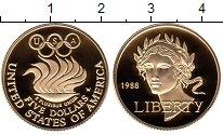 Изображение Монеты США 5 долларов 1988 Золото Proof