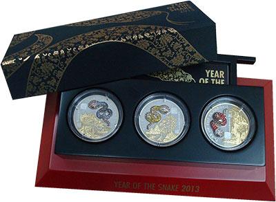 Изображение Подарочные монеты Руанда 500 франков 2013 Серебро Proof Цифровая  печать.  Г