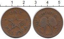 Изображение Монеты Гана 1 песева 1967 Бронза XF