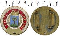 Монета Италия Полицейский знак Латунь XF фото