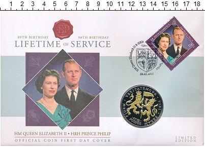 Изображение Подарочные монеты Остров Джерси 5 фунтов 2011 Медно-никель UNC Монета номиналом 5 ф