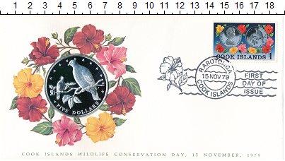 Изображение Подарочные монеты Острова Кука 5 долларов 1979 Серебро Proof Раротонганы (фруктов