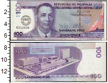 Изображение Банкноты Филиппины 100 писо 2011  UNC-
