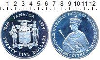 Изображение Монеты Ямайка 25 долларов 1979 Серебро Proof-