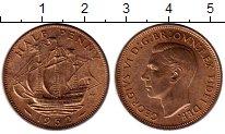 Изображение Монеты Великобритания 1/2 пенни 1952 Бронза XF