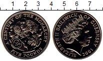 Монета Гернси 5 фунтов Медно-никель 2001 UNC фото