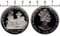 Изображение Монеты Великобритания Фолклендские острова 1 крона 2005 Серебро Proof