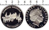 Изображение Монеты Великобритания Олдерни 5 фунтов 2007 Серебро Proof