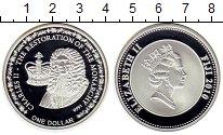 Изображение Монеты Фиджи 1 доллар 2010 Посеребрение Proof