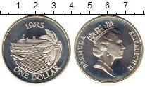 Изображение Монеты Великобритания Бермудские острова 1 доллар 1985 Серебро UNC