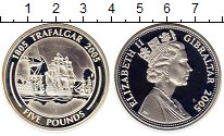 Изображение Монеты Великобритания Гибралтар 5 фунтов 2005 Серебро Proof