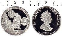 Монета Острова Кука 1 доллар Серебро 2007 Proof фото