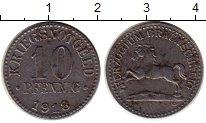 Изображение Монеты Германия Брауншвайг 10 пфеннигов 1918 Железо XF