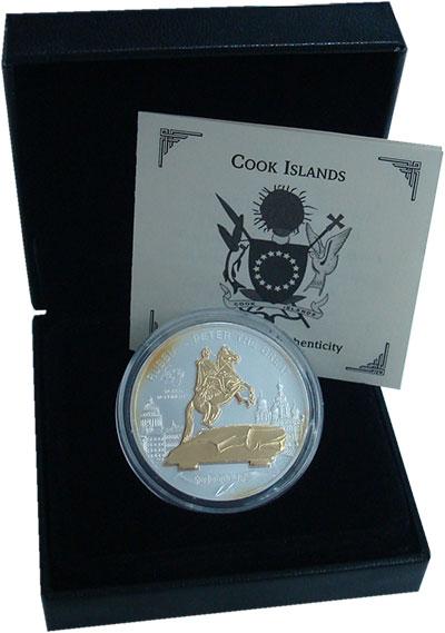 Изображение Подарочные монеты Острова Кука 10 долларов 2009 Серебро UNC Елизавета II. Памятн