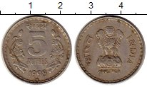 Изображение Монеты Индия 5 рупий 1998 Медно-никель XF