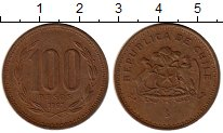 Изображение Монеты Чили 100 песо 1997 Бронза XF