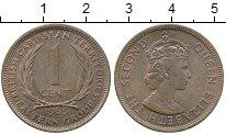 Изображение Монеты Великобритания Карибы 1 цент 1965 Бронза XF