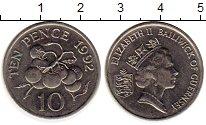 Изображение Монеты Великобритания Гернси 10 пенсов 1992 Медно-никель UNC-
