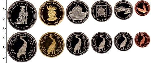 Изображение Наборы монет Резервация Хамул Индейцы Племена Майями 2018  UNC Набор монет от 1 цен