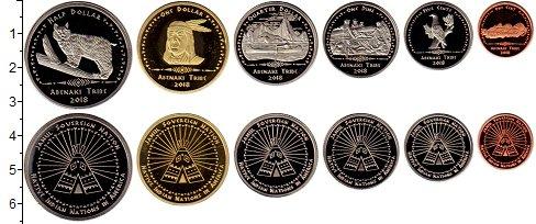 Изображение Наборы монет Резервация Хамул Индейцы Племя Абенаки 2018  UNC Набор монет от 1 цен
