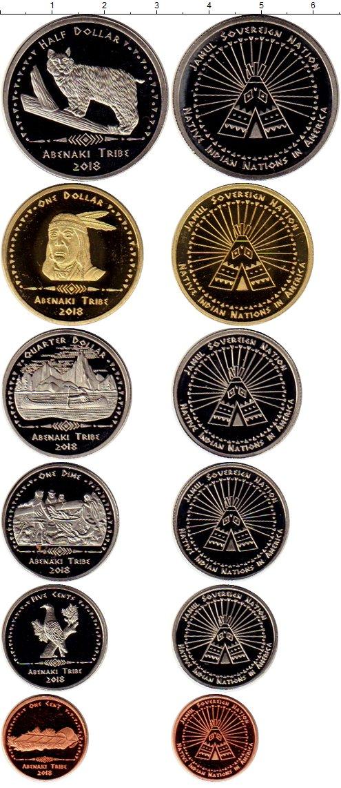 Картинка Наборы монет Резервация Хамул Индейцы Племя Абенаки  2018