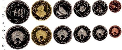 Изображение Наборы монет Резервация Хамул Индейцы Племя Чокто 2018  UNC Набор монет от 1 цен