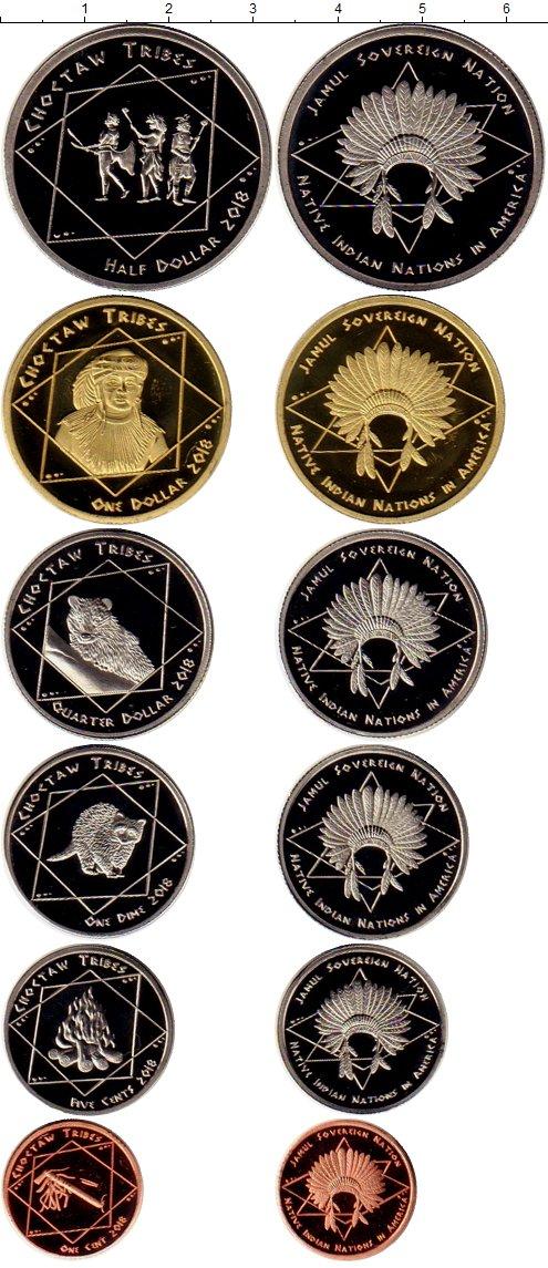 Картинка Наборы монет Резервация Хамул Индейцы Племя Чокто  2018