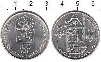 Монета Чехословакия 100 крон Серебро 1987 UNC- фото