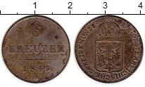 Изображение Монеты Австрия 6 крейцеров 1849 Серебро XF