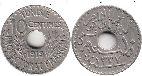 Картинка Монеты Тунис 10 сантим Медно-никель 1919
