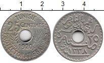 Изображение Монеты Тунис 25 сантим 1920 Медно-никель XF