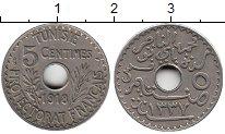 Изображение Монеты Тунис 5 сантим 1918 Медно-никель XF