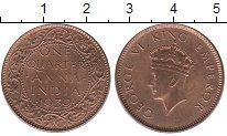 Изображение Монеты Индия 1/4 анны 1939 Бронза UNC-