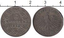 Изображение Монеты Германия Франкфурт 6 крейцеров 1843 Серебро XF