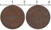 Изображение Монеты Саксен-Майнинген 2 пфеннига 1842 Медь XF-