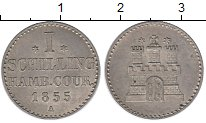 Изображение Монеты Германия Гамбург 1 шиллинг 1855 Серебро XF