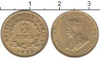 Изображение Монеты Западная Африка 3 пенса 1934 Латунь XF