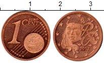 Изображение Монеты Франция 1 евроцент 2007 Бронза Proof-